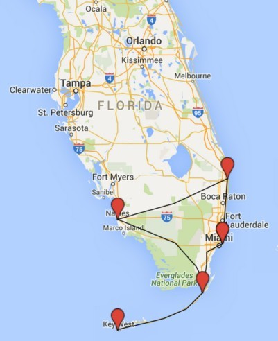 South Florida Tour Usa Motorcycle Tours Admo Tours